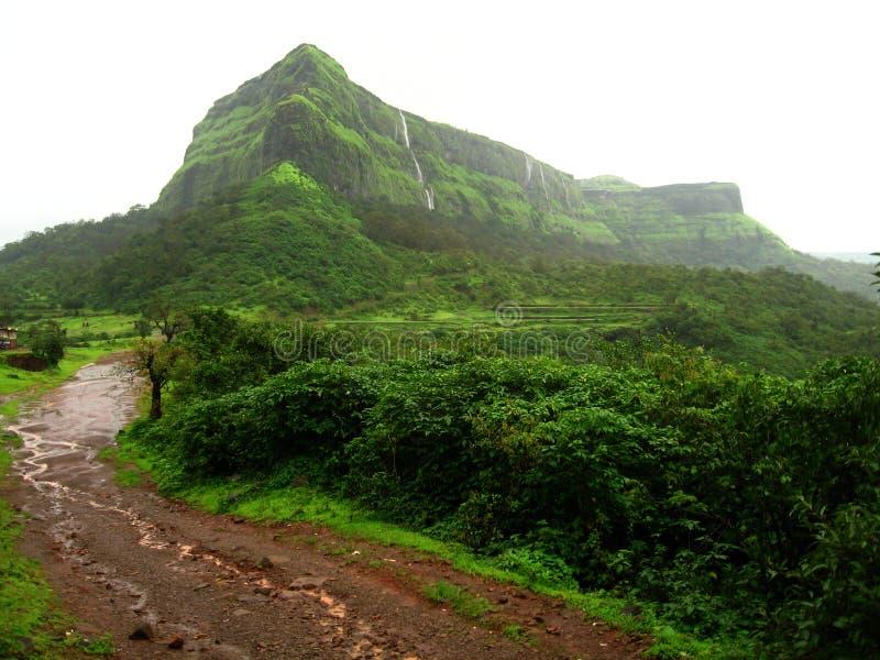 Weelderige groene bergen royalty-vrije stock foto