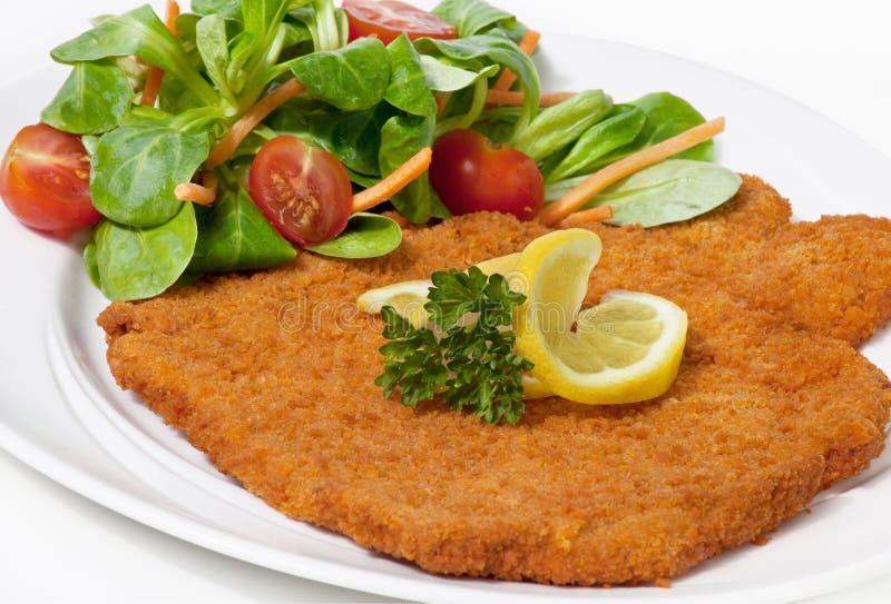 Weense schnitzel (escalope) royalty-vrije stock foto's