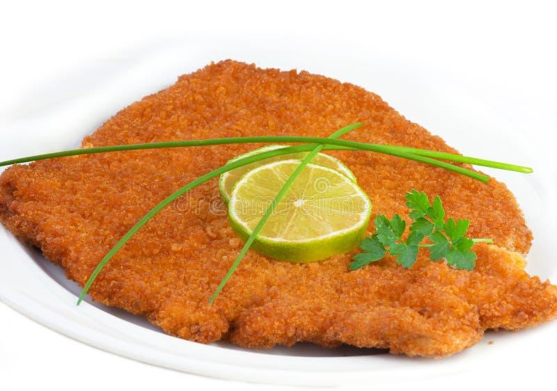 Weense schnitzel (escalope) royalty-vrije stock fotografie