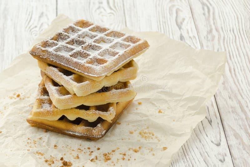 Weense wafeltjes Eigengemaakt baksel stock foto