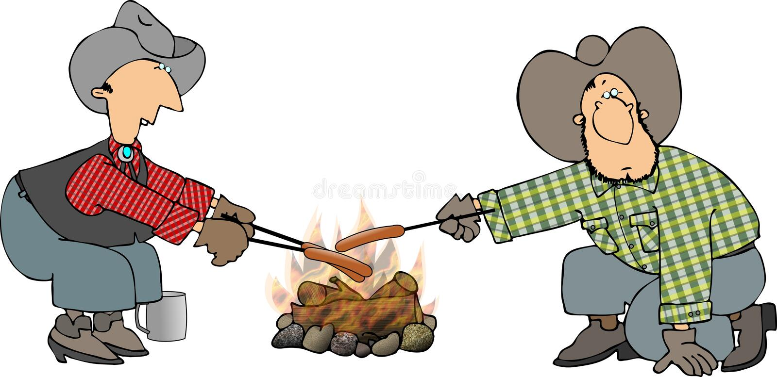 Download Weeny roast stock illustration. Illustration of franks - 1032866