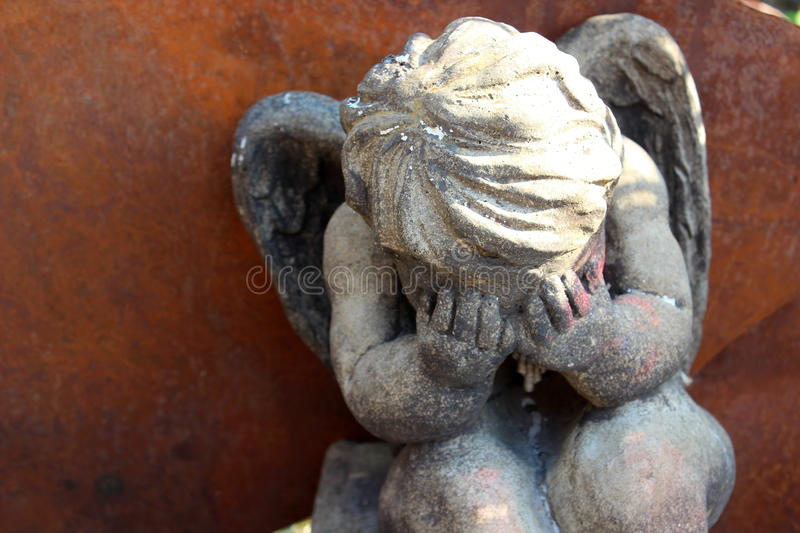 Weeping angel royalty free stock photo