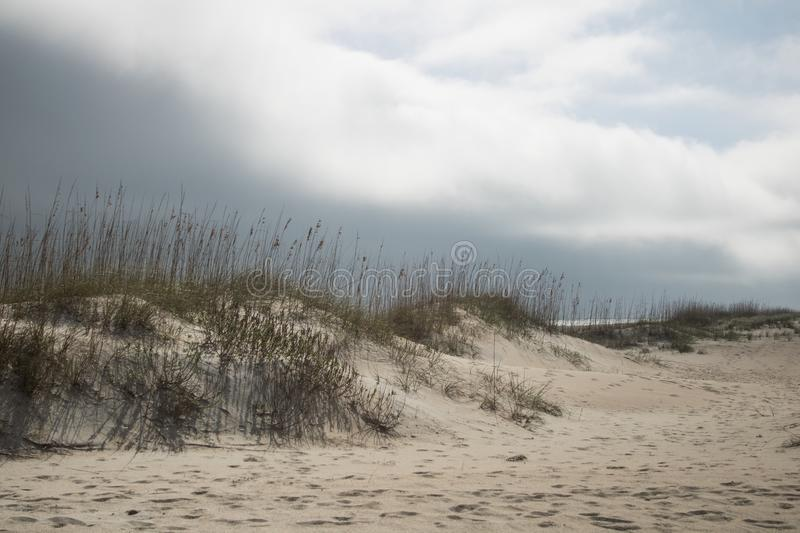 Weer Front Looming over Strand royalty-vrije stock foto's