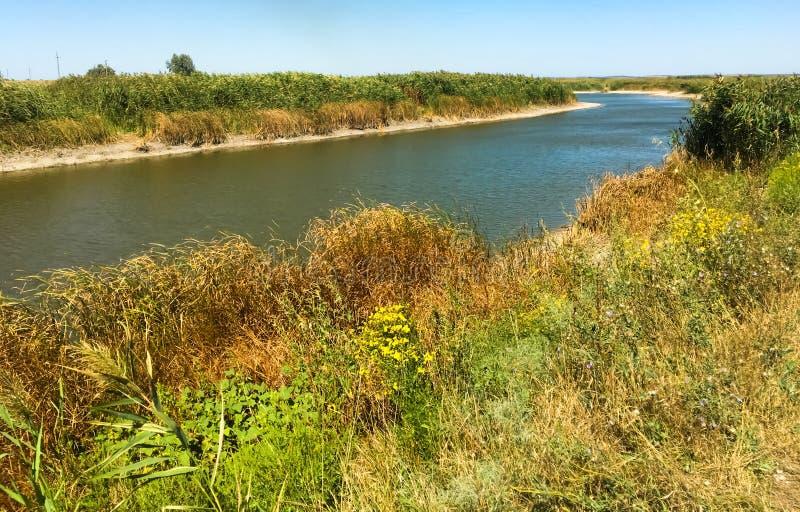 Weergave van de rivier Zomerlandschap Rusland Zomer royalty-vrije stock foto's