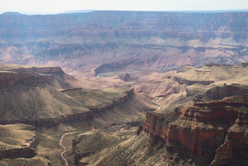 Weergave van Walhalla Overlook Grand Canyon stock afbeeldingen
