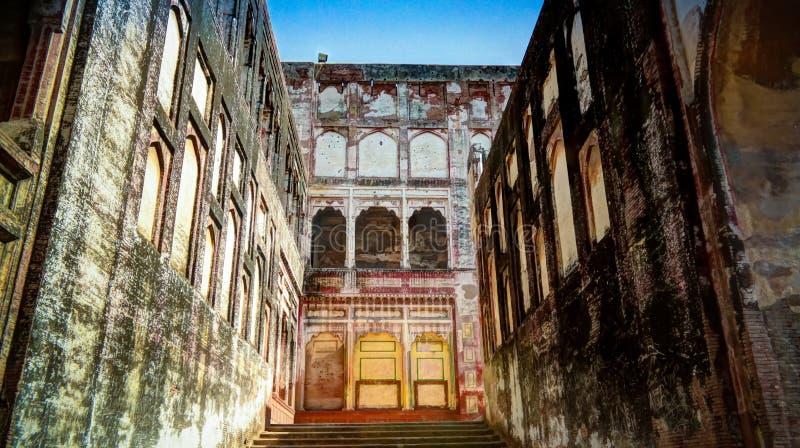 Weergeven aan Olifantsweg in het Lahore-fort, Lahore, Pakistan royalty-vrije stock afbeelding