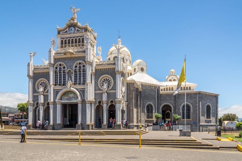 Weergeven bij de Basiliek van Onze Dame van de Engelen in Cartago - Costa Rica royalty-vrije stock fotografie