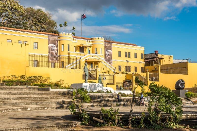 Weergeven bij de bouw van Nationaal Museum in San Jose - Costa Rica stock afbeeldingen