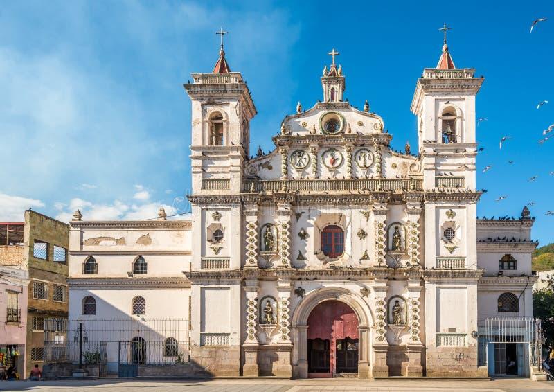 Weergeven bij Los Dolores Church in Tegucigalpa - Honduras royalty-vrije stock afbeelding