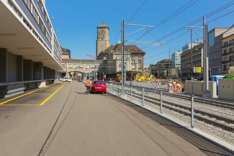 Weergeven in de stad van St Gallen royalty-vrije stock afbeelding