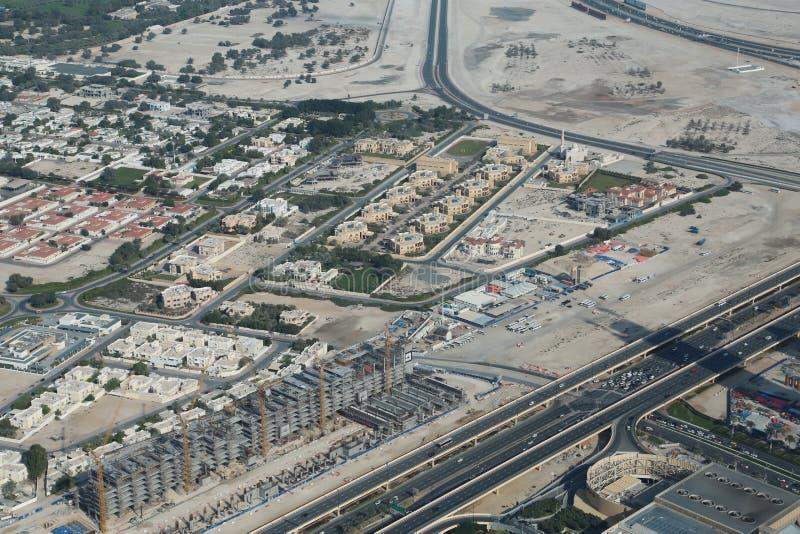 Weergeven op Arabische Emiraten de van de binnenstad, Verenigde van Doubai royalty-vrije stock fotografie