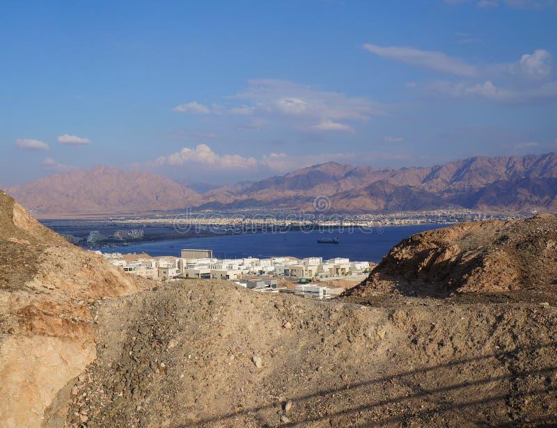 Weergeven op de Eilat-golf royalty-vrije stock afbeelding