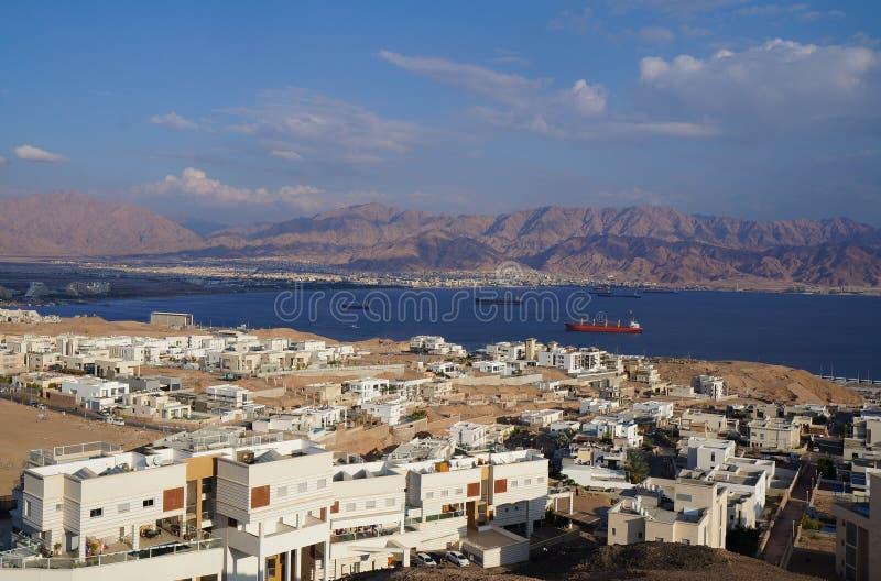 Weergeven op de Eilat-golf royalty-vrije stock foto