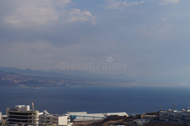 Weergeven op de Eilat-golf stock foto's