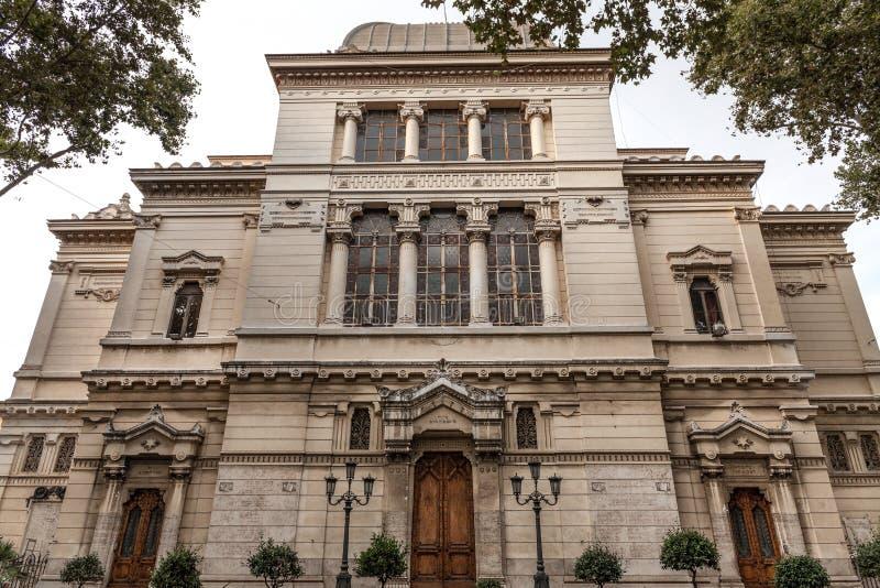 Weergeven op Grote Synagoge van Rome, Italië stock foto