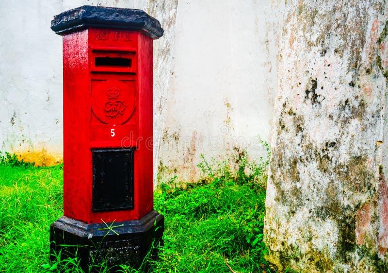 Weergeven op Pillendoosje in de stad van Galle, een rest van het oude koloniale verleden van Sri Lanka stock fotografie