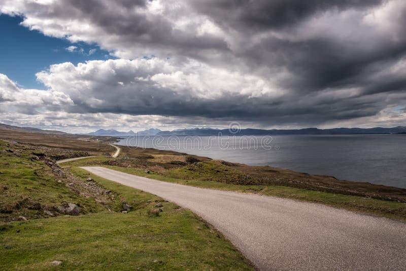 Weergeven over Binnengeluid naar Skye in Schotland stock afbeelding
