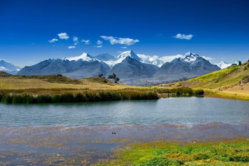 Weergeven over de Bergen van de Andes stock foto