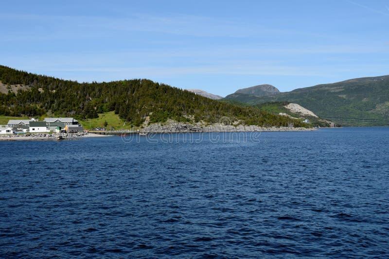 Weergeven over de Bonne-Baai naar Norris Point royalty-vrije stock fotografie