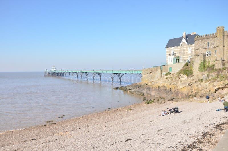 Weergeven over Severn Estuary royalty-vrije stock afbeelding
