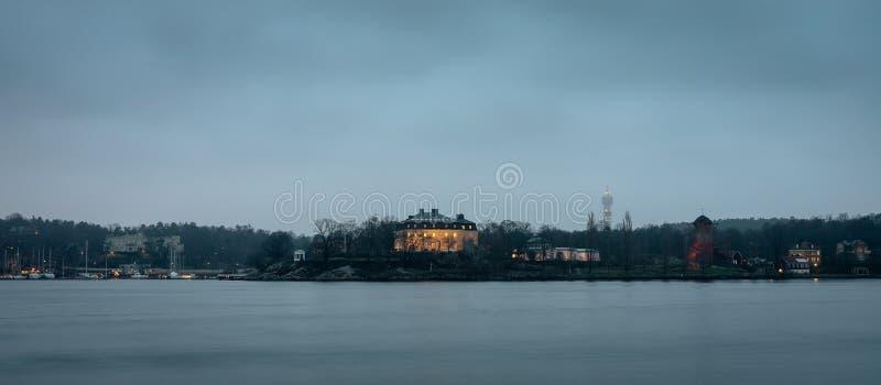 Weergeven over Waldemarsudde, in Stockholm, Zweden stock foto's