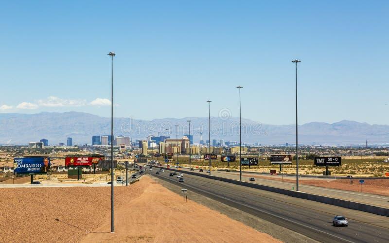 Weergeven van de horizon van Las Vegas, Las Vegas, Nevada, de Verenigde Staten van Amerika, Noord-Amerika royalty-vrije stock foto
