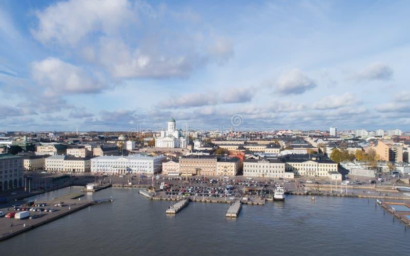 Weergeven van de Kathedraal van Helsinki, satellietbeeld stock foto's
