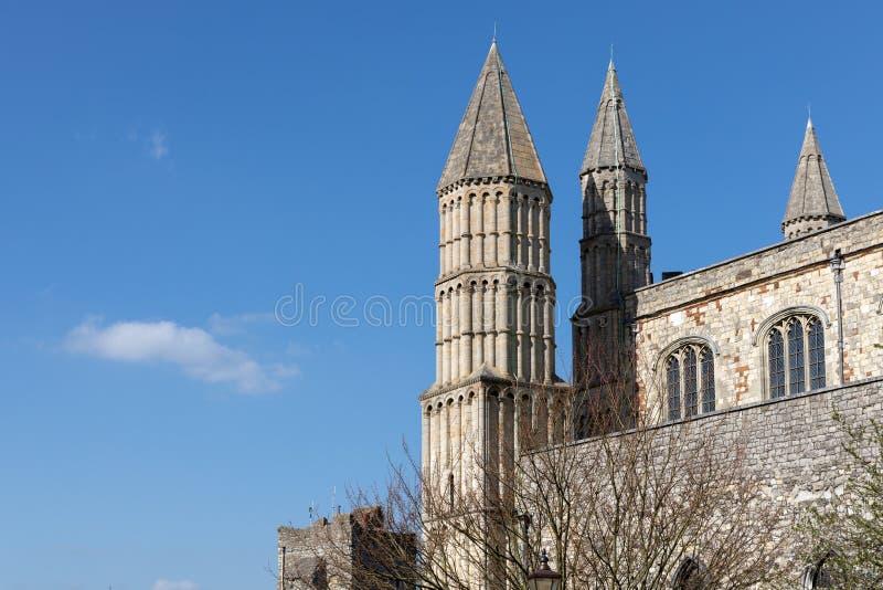 Weergeven van de Kathedraal in Rochester op 24 Maart, 2019 royalty-vrije stock afbeeldingen