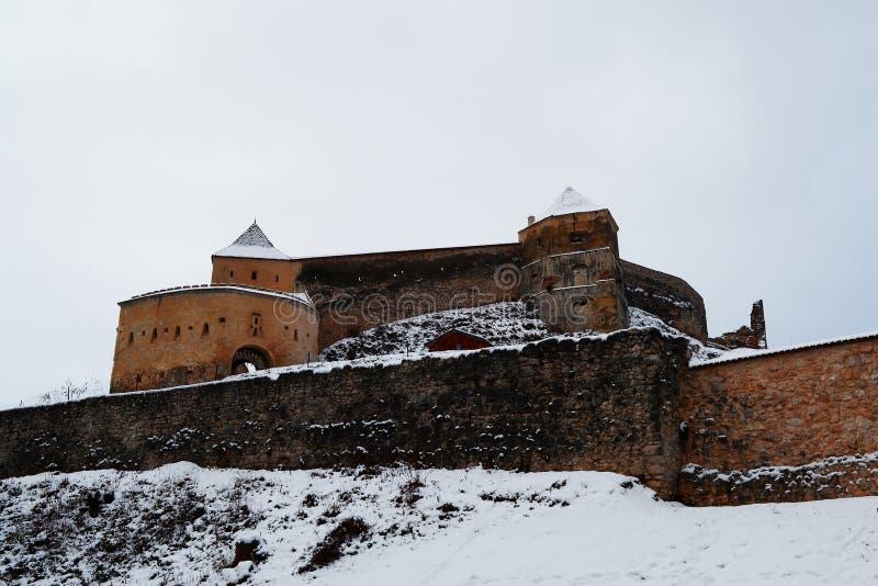 Weergeven van de Rasnov-citadel royalty-vrije stock foto's