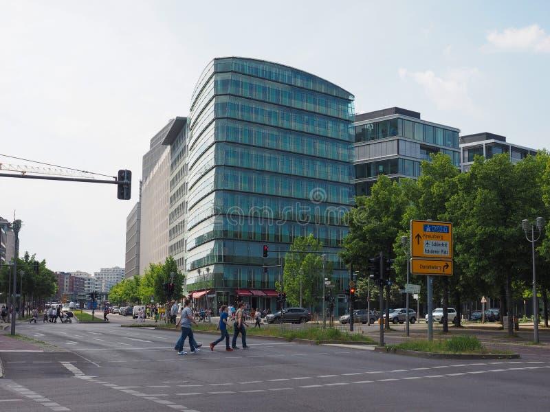 Weergeven van de stad van Berlijn stock foto's