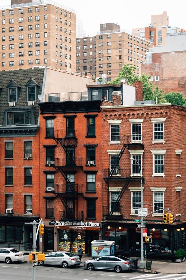 Weergeven van 10de Weg van de Hoge Lijn, in Chelsea, de Stad van Manhattan, New York royalty-vrije stock foto