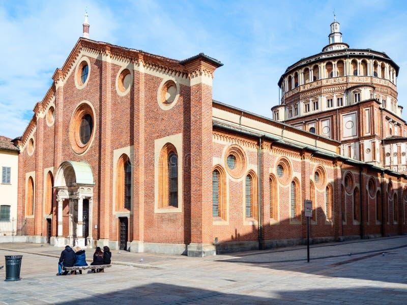 Weergeven van Di Santa Maria delle Grazie van Kerkchiesa royalty-vrije stock foto's