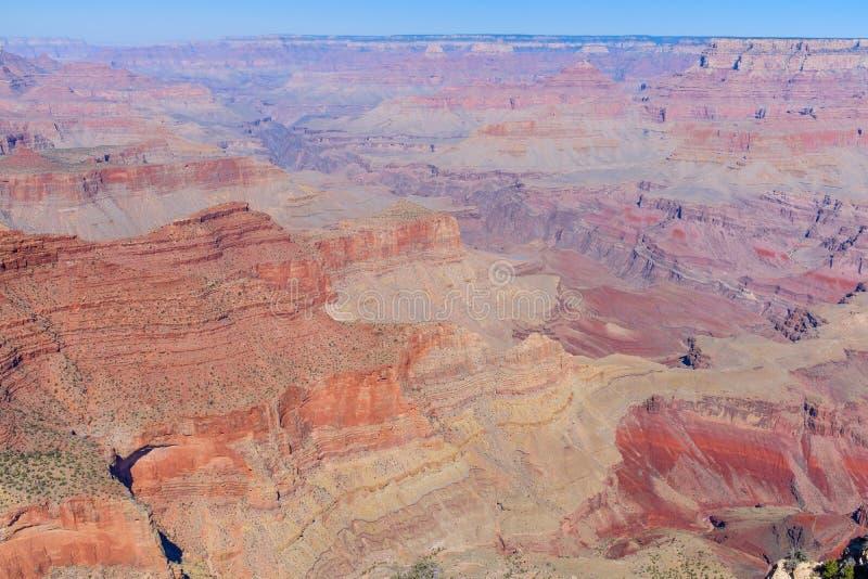 Weergeven van Grand Canyon van zijn Zuidenrand stock foto's