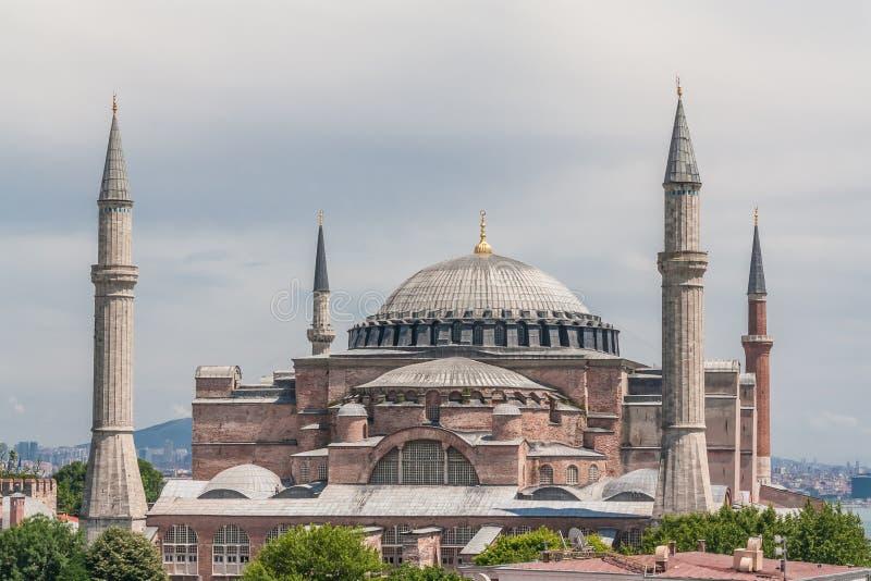 Weergeven van Hagia Sophia, Aya Sofya, Istanboel, Turkije royalty-vrije stock foto