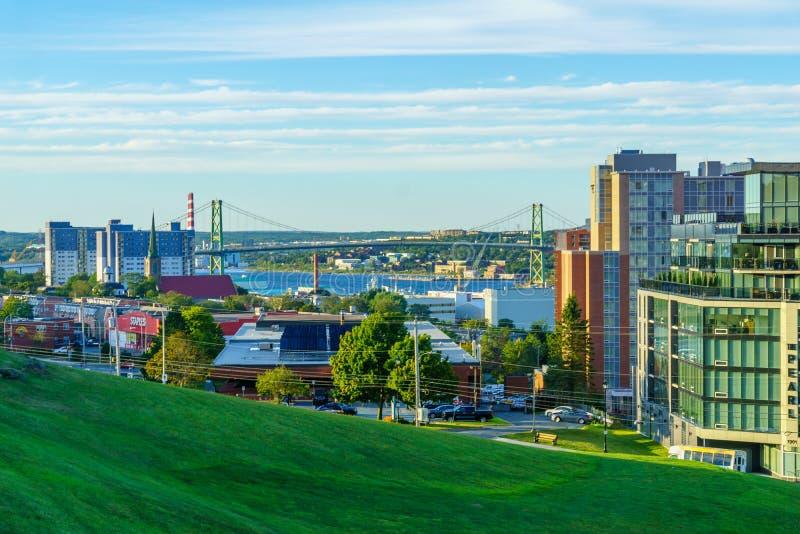Weergeven van Halifax van de binnenstad royalty-vrije stock afbeeldingen