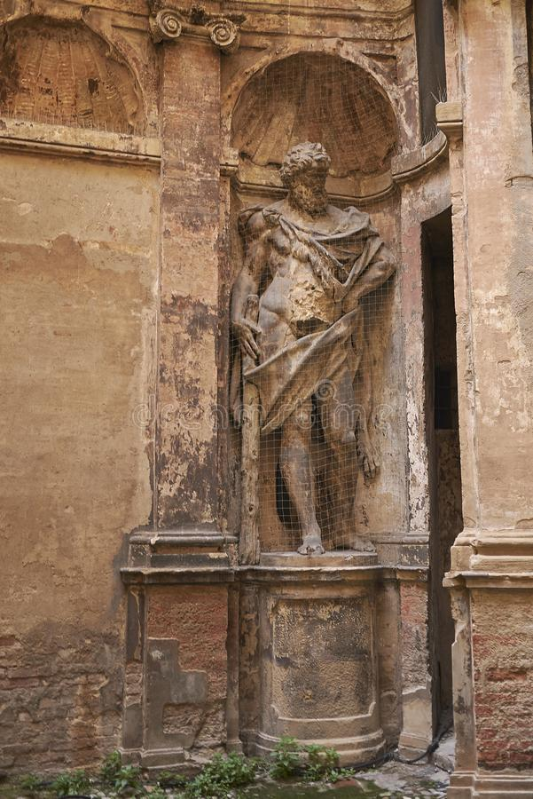 Weergeven van Hercules-standbeeld stock fotografie