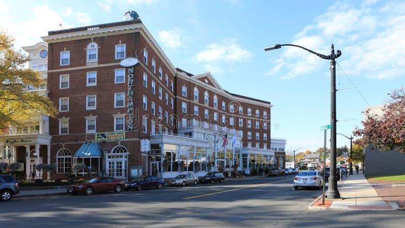 Weergeven van het Hotel van Northampton in Northampton, Massachusetts royalty-vrije stock afbeelding