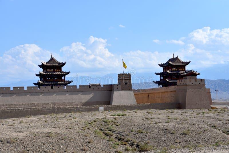 Weergeven van het Jiayuguan-Fort, China royalty-vrije stock foto's