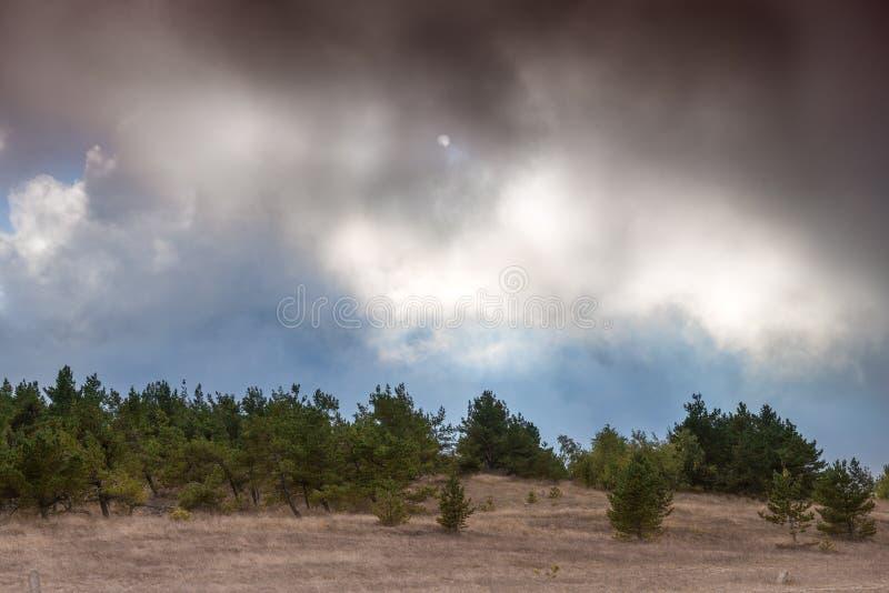 Weergeven van het plateau van Ah Petri in de herfst stock afbeelding