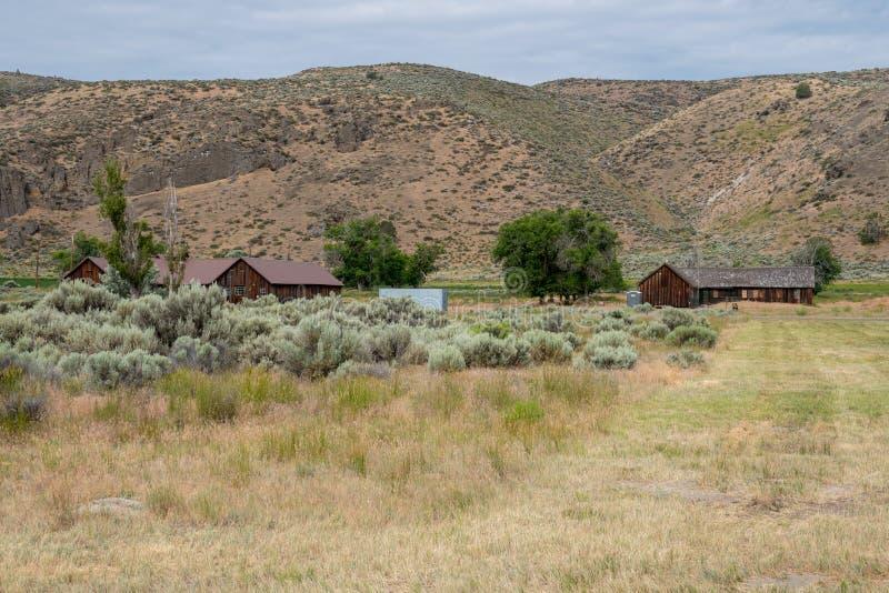 Weergeven van het Tulelake-Kamp Tulelake, een Centrum van het Interneringskamp van de Oorlogsverhuizing tijdens WW2 voor voor de  royalty-vrije stock foto's