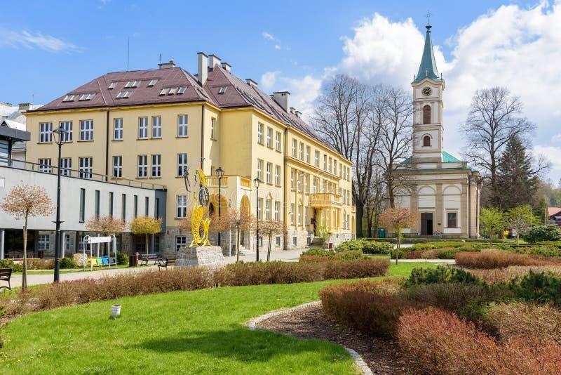 Weergeven van Hoff-Vierkant in Wisla in Polen stock foto's