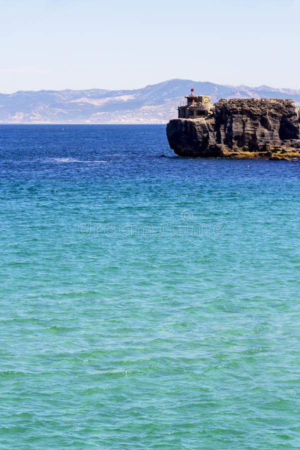 Weergeven van Isla DE las Palomas, Andalusia, Spanje stock afbeelding