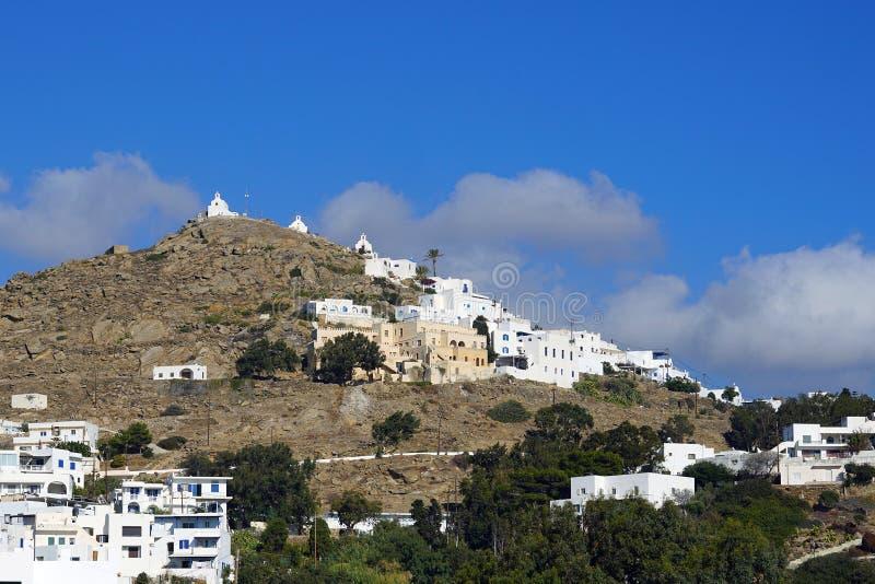 Weergeven van island& x27; s heuvels met zijn kerken royalty-vrije stock foto's