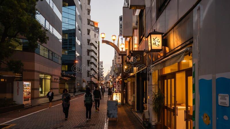 Weergeven van Kanda-Cityscape in Toyko, Japan royalty-vrije stock foto