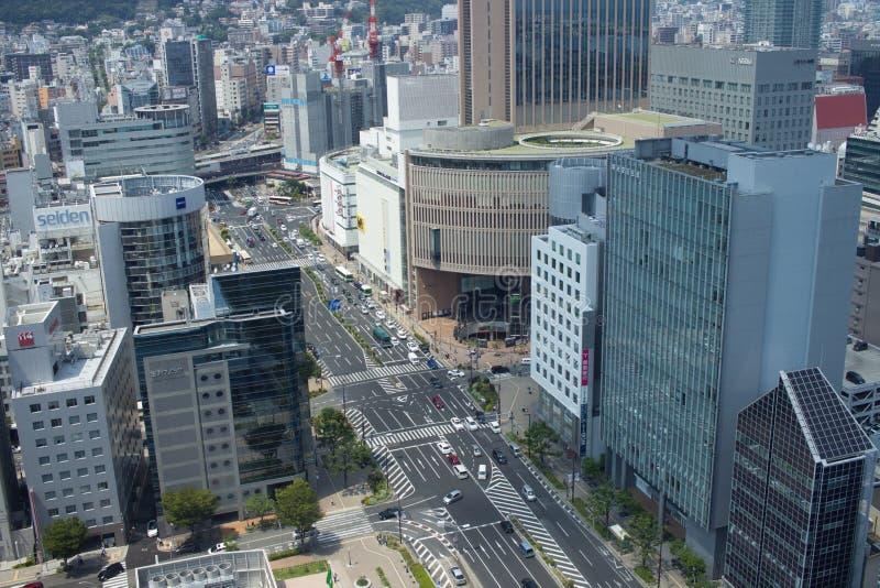 Weergeven van Kobe-stad, Japan royalty-vrije stock afbeelding
