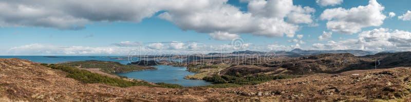 Weergeven van Loch Ardbhair in Higlands van Schotland royalty-vrije stock afbeelding