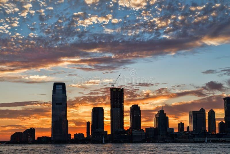 Weergeven van Manhattan New York royalty-vrije stock foto's