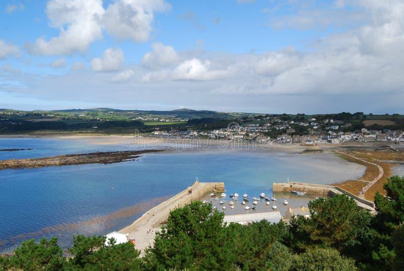 Weergeven van Marazion van St Michael Onderstel Cornwall stock afbeeldingen