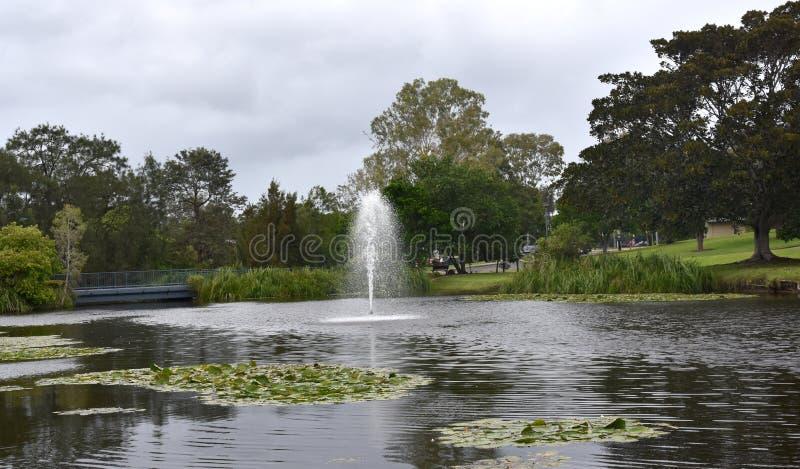Weergeven van Meer Alford bij het recreatieve park royalty-vrije stock foto's