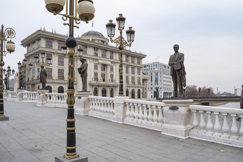 Weergeven van Ministerie van Buitenlandse zaken die van Art Bridge bouwen stock foto